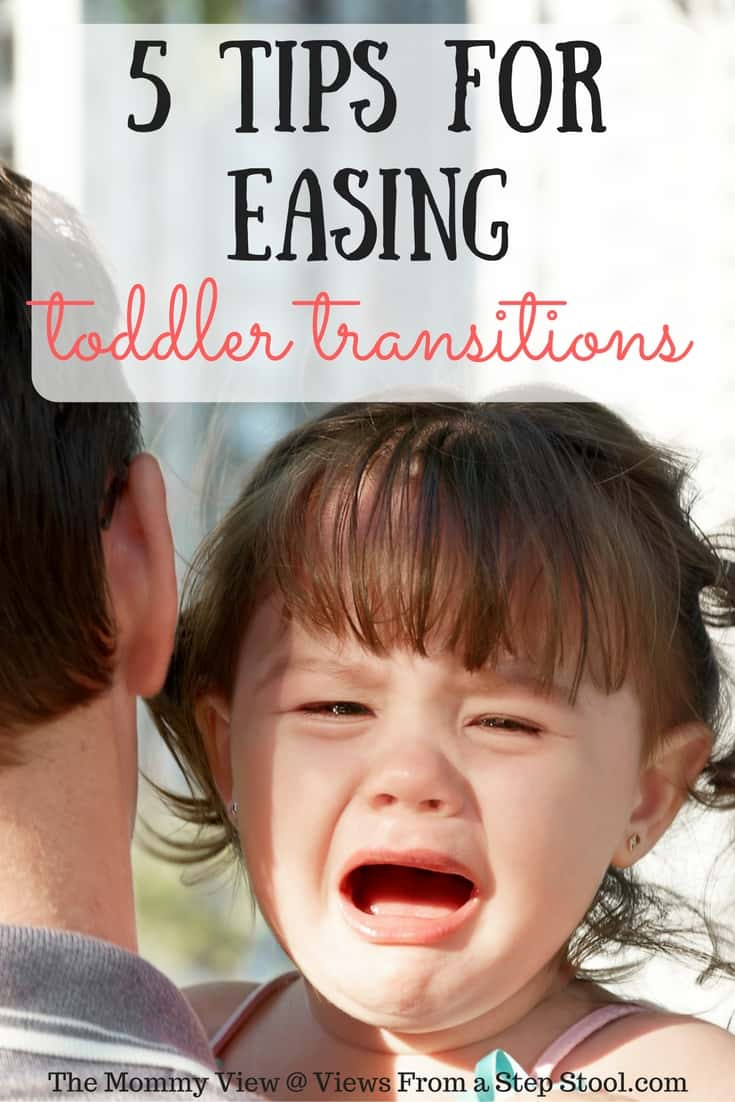 Follow these 5 tips for easing toddler transitions to avoid meltdowns! Your language, keeping to a routine and using timers are all tools that can help!