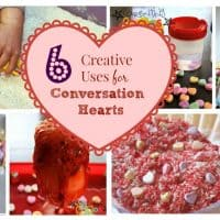 These conversation heart activities are perfect for a party, or for keeping the kids busy and learning at home!