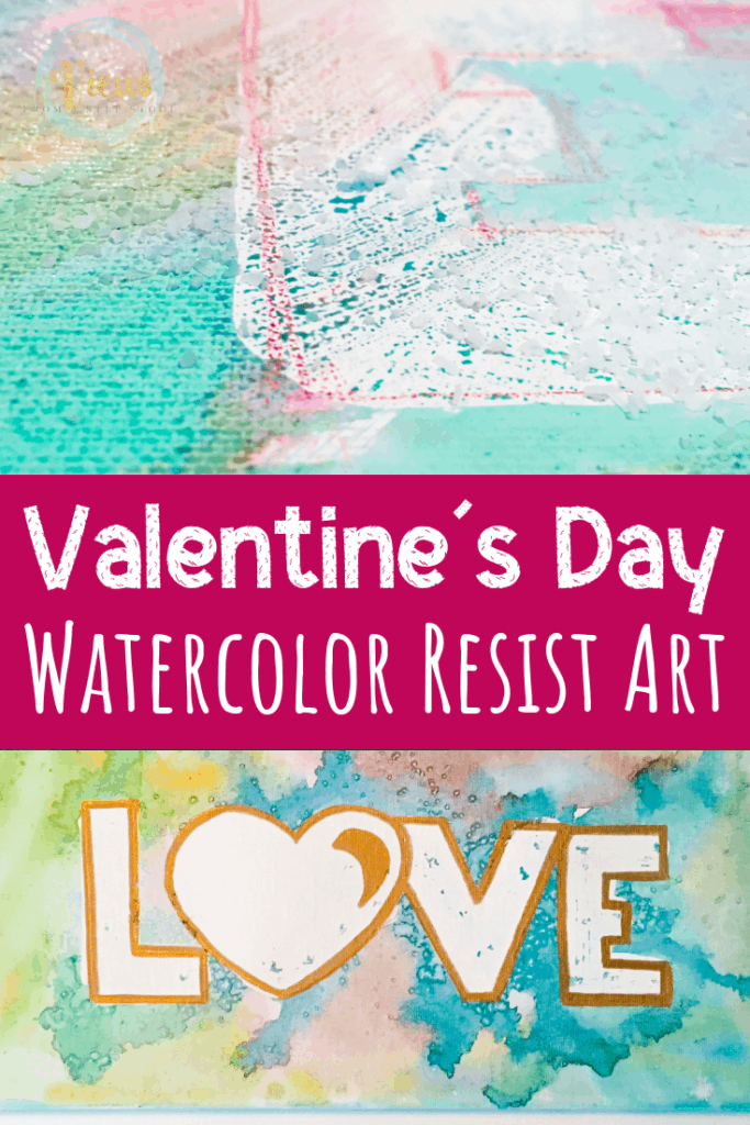 watercolor resist art pin 1