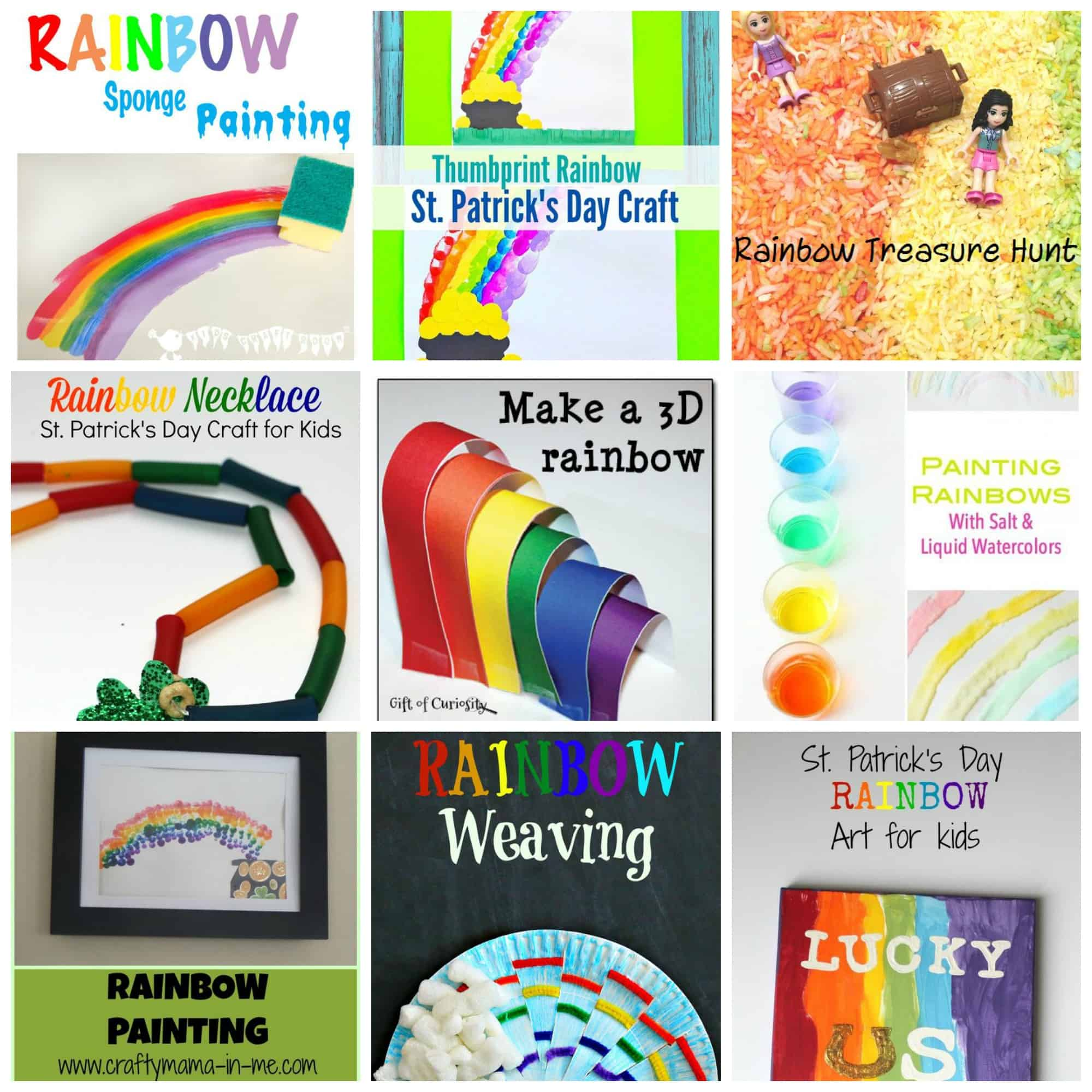 This collection of rainbow crafts and activities is sure to keep your kids busy and learning through fun and play! Perfect for the Spring!
