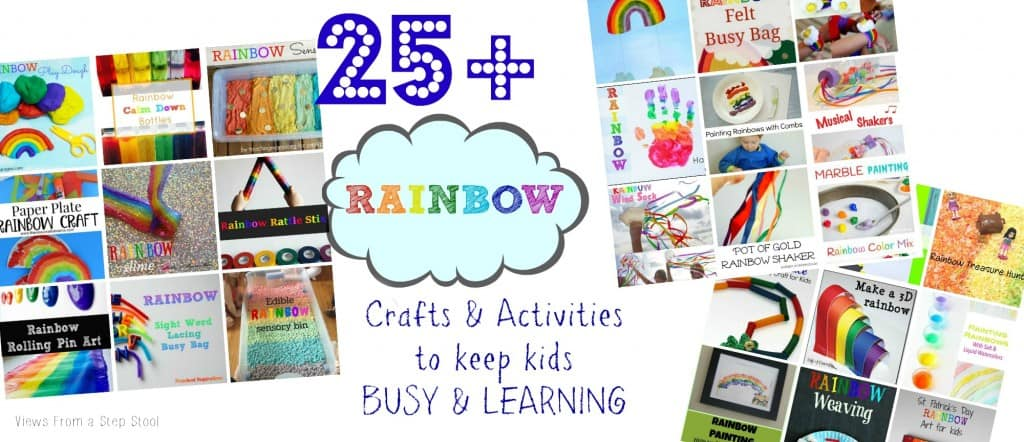 These rainbow crafts and activities will brighten your day! From simple to more advanced, your kids will LOVE to make any one of these!
