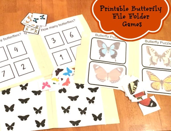 These printable butterfly file folder games will keep the kiddos busy and entertained! Just print, cut and paste!