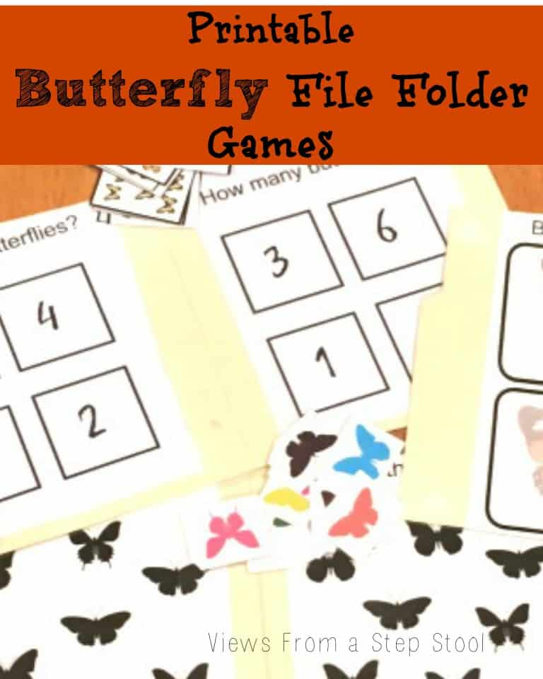 graphic about Printable File Folder Games called Butterfly Report Folder Video games: Free of charge Printable! - Thoughts Towards a