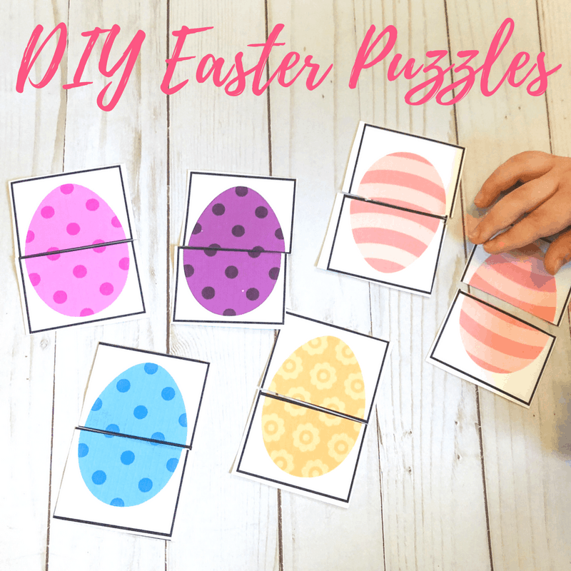 This printable Easter games for toddlers and preschoolers can be used as a puzzle and matching game or a memory game! Great as a busy bag!
