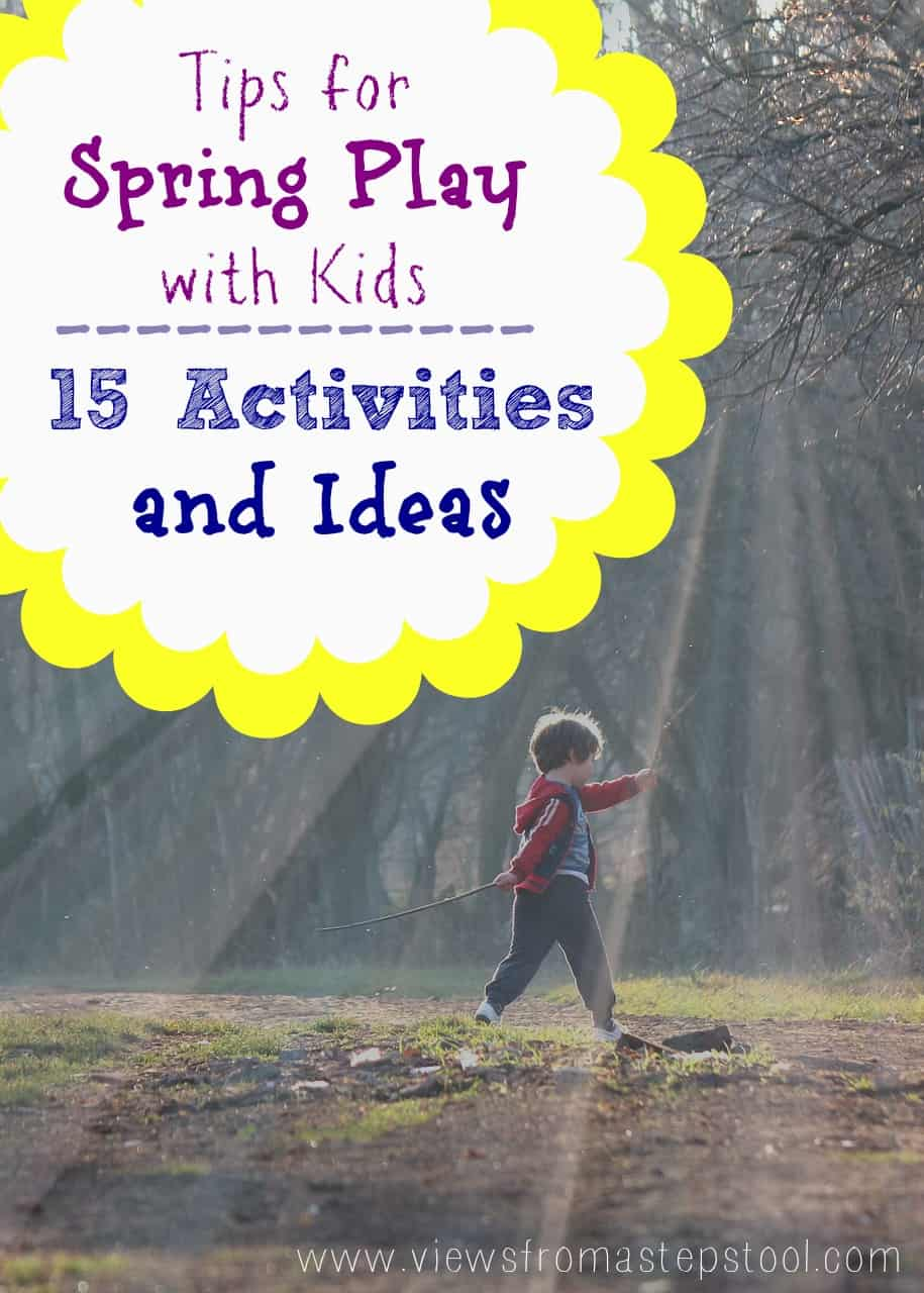 Have your kids been cooped up for the winter? Are you ready to get them away from electronics and back outside? Start with these GREAT IDEAS for spring play!