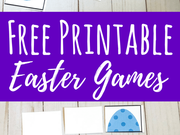 Printable Easter Games for Toddlers and Preschoolers
