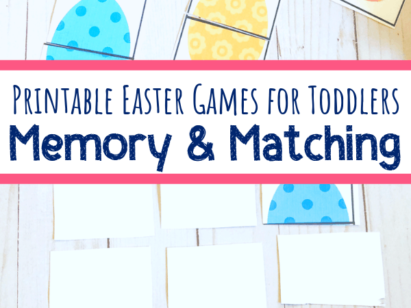 Printable Easter Egg Matching Game and Memory Game