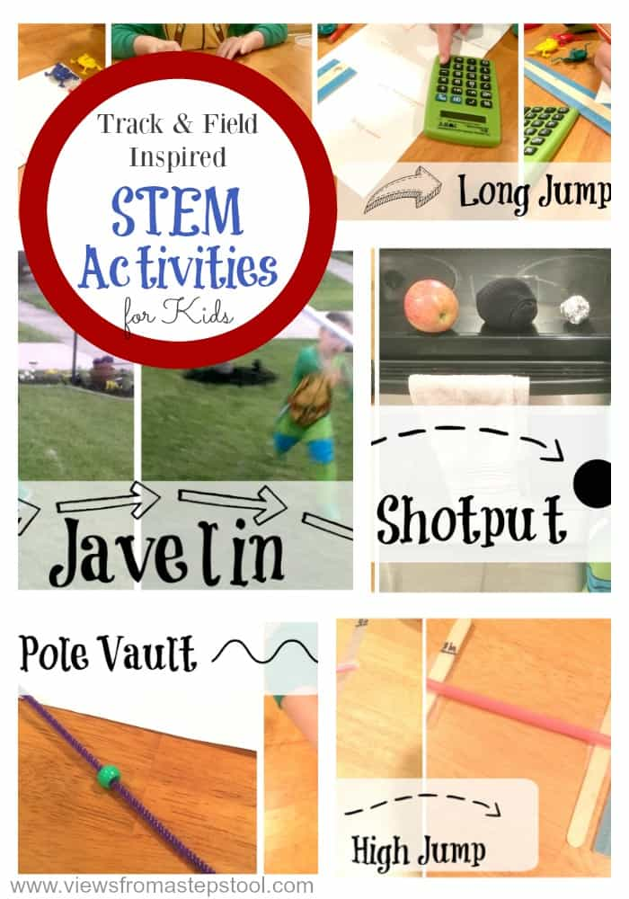 5 Olympics activities for kids that are easy to do at home. Kids will connect and learn with these STEM activities while learning about the Olympics!