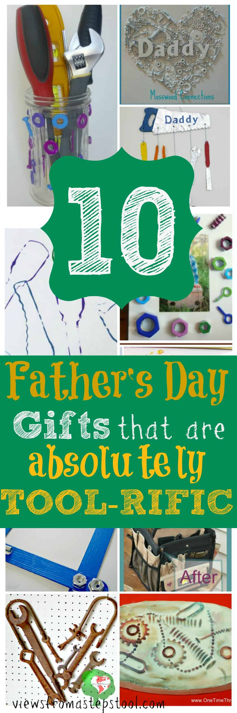 These father's day gifts are perfect for the tool lover! For the dad who has everything, they appreciate a homemade gift from their kids. These can all be kid made and are sure to warm the heart of any dad this father's day!