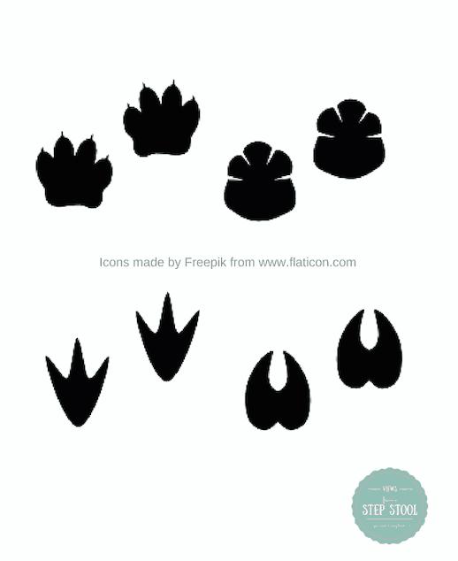 Animal Tracks Printable