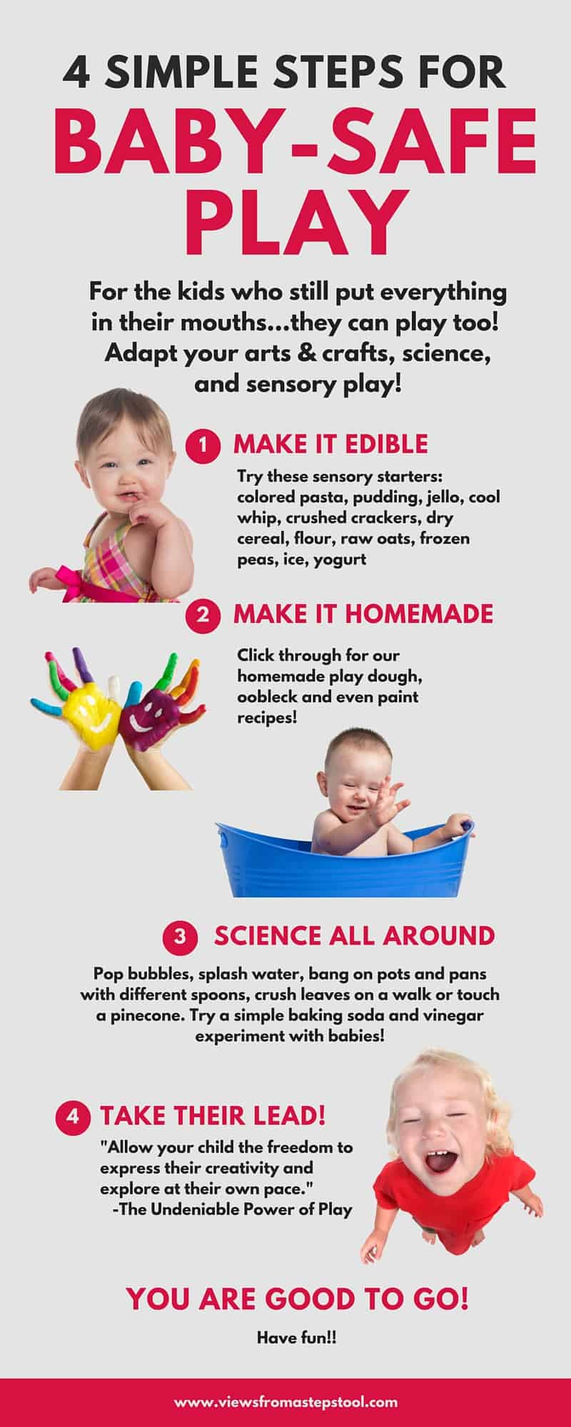 baby safe play infographic