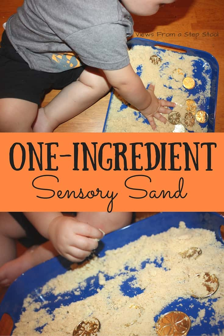 Sensory play does not need to be elaborate! Check out how we double this delicious snack as some super simple, edible, one-ingredient sensory sand!