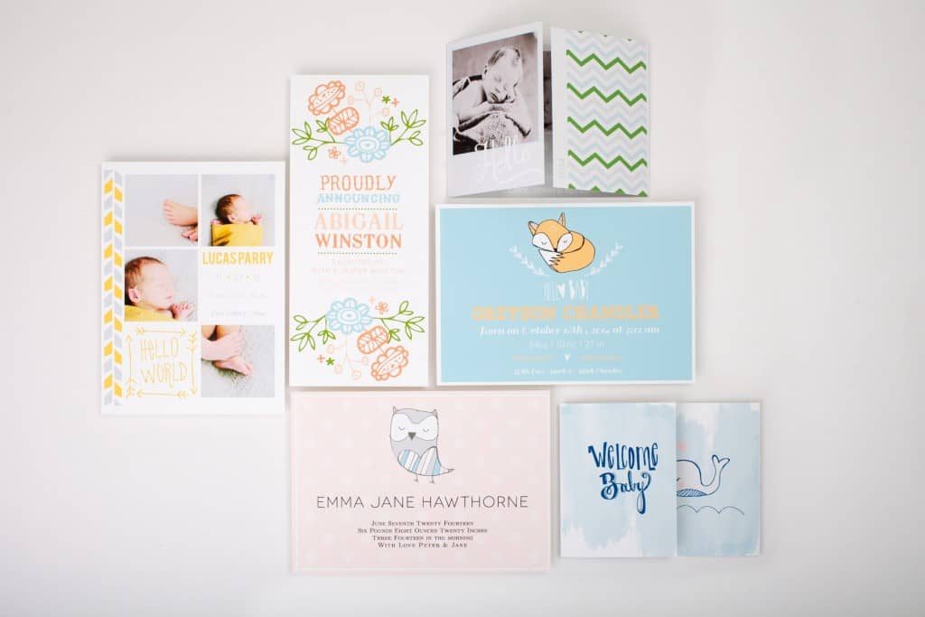 There are some really fun ways to announce the birth of a child! Check out these ideas ranging from traditional to non-traditional.