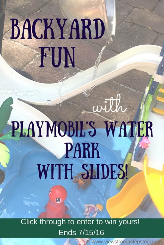 Add a little bit of science to your backyard water play for some added fun! Check out how we turned our PLAYMOBIL playset into an erupting water slide!