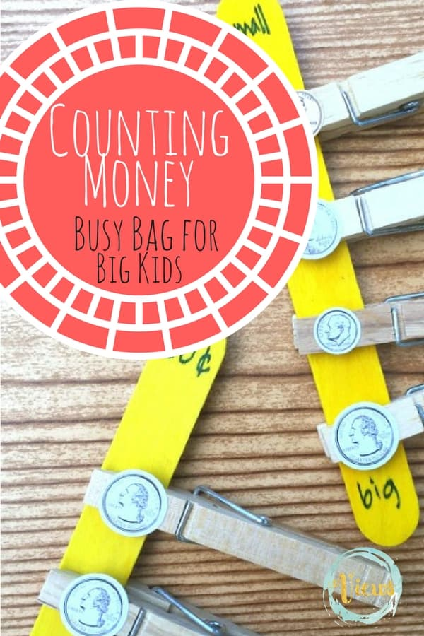 This counting money busy bag is perfect for big kids who want to learn how to add money coin value. Plus check out these other busy bags for big kids too!