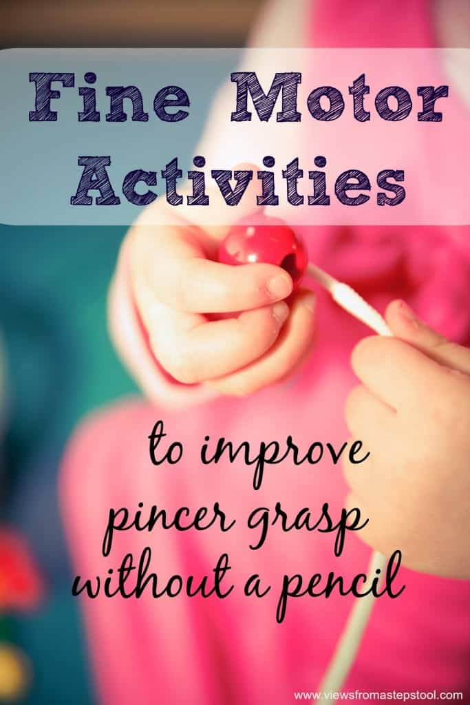 Fine motor activities are a perfect way to improve pincer grasp and work on pre-handwriting skills! Check out this awesome collection of fine motor activities for babies through elementary aged children!
