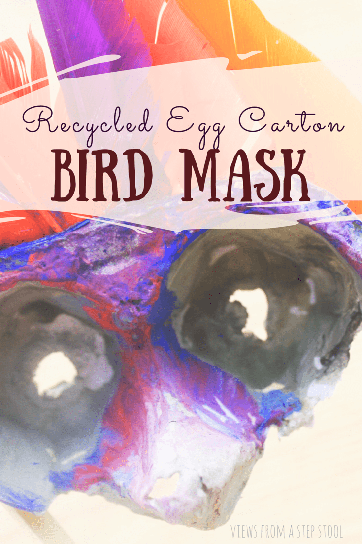 We LOVE pretend play in our house. This DIY bird mask is the perfect way to create your own costume accessory for a little pretend play at home!