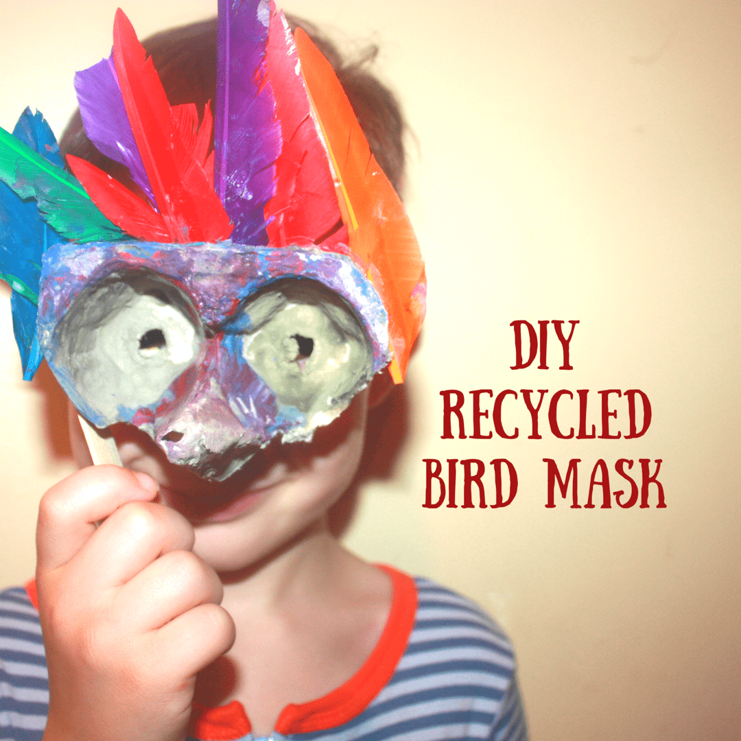 We LOVE pretend play in our house. Dress up, action figures, dolls...you name it. These DIY bird masks are the perfect way to create your own costume accessory for a little pretend play at home!