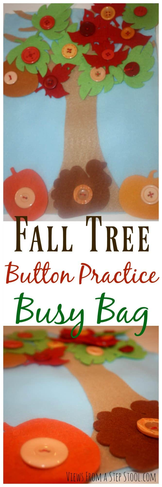 Fall Tree Button Practice Busy Bag