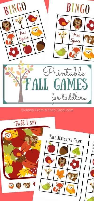 printable fall games pin