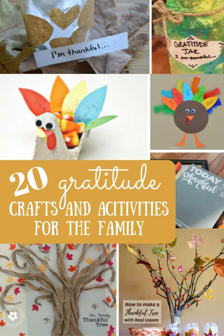 These gratitude crafts and activities are the perfect way to open up a conversation about showing gratitude and being thankful with kids.