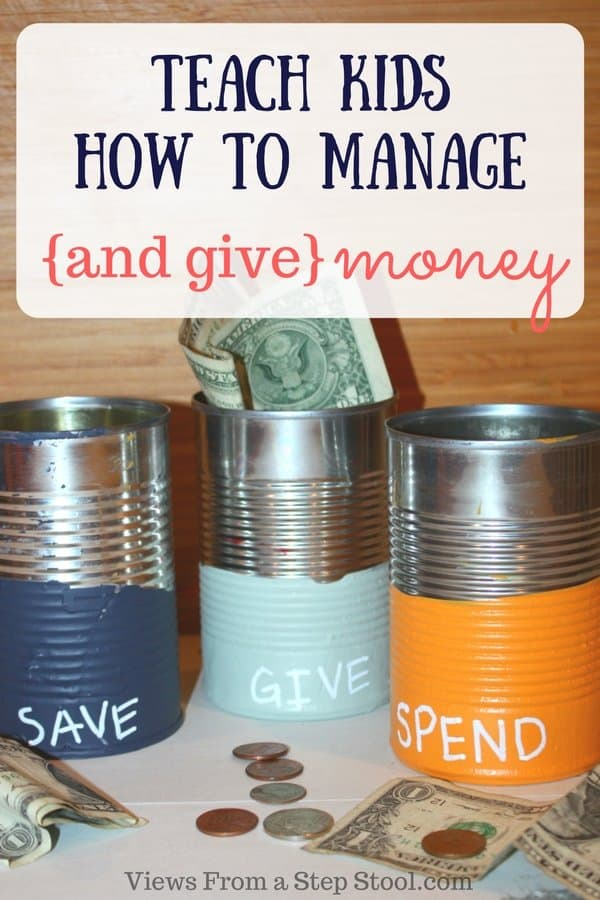 These spend, save, give jars are a great way to teach kids responsibility with money, and to give back. This simple DIY is made out of recycled materials!