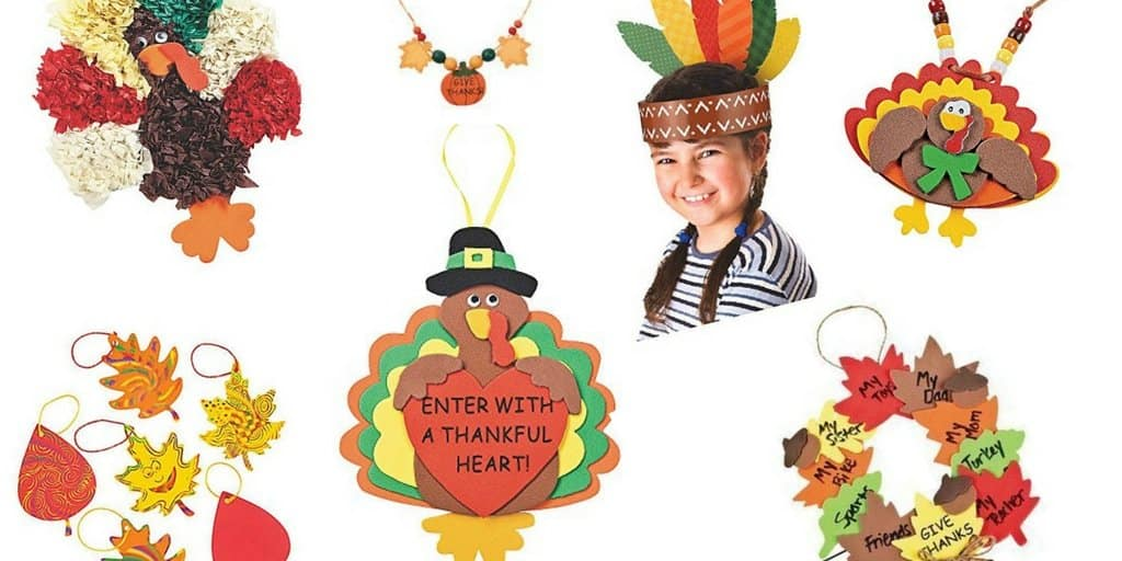 From headbands, to necklaces, to wreaths, these activity packs are perfect for some Turkey Day crafting with kids! Perfect for holiday decor!