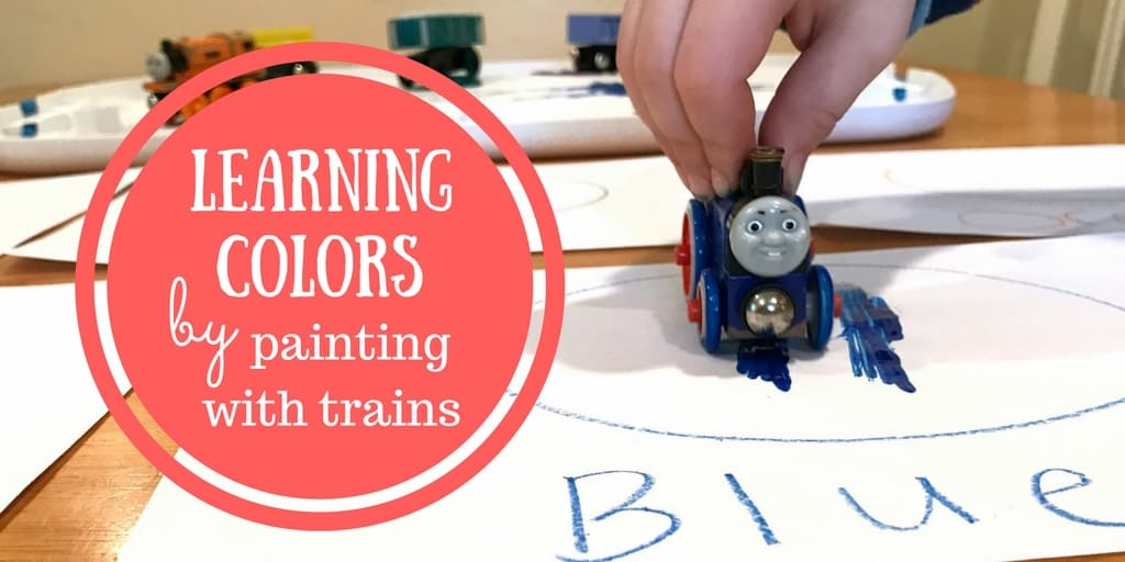 Learning Colors by Painting with Trains