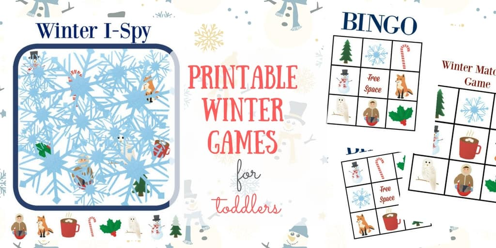 Printable Winter Games for Toddlers