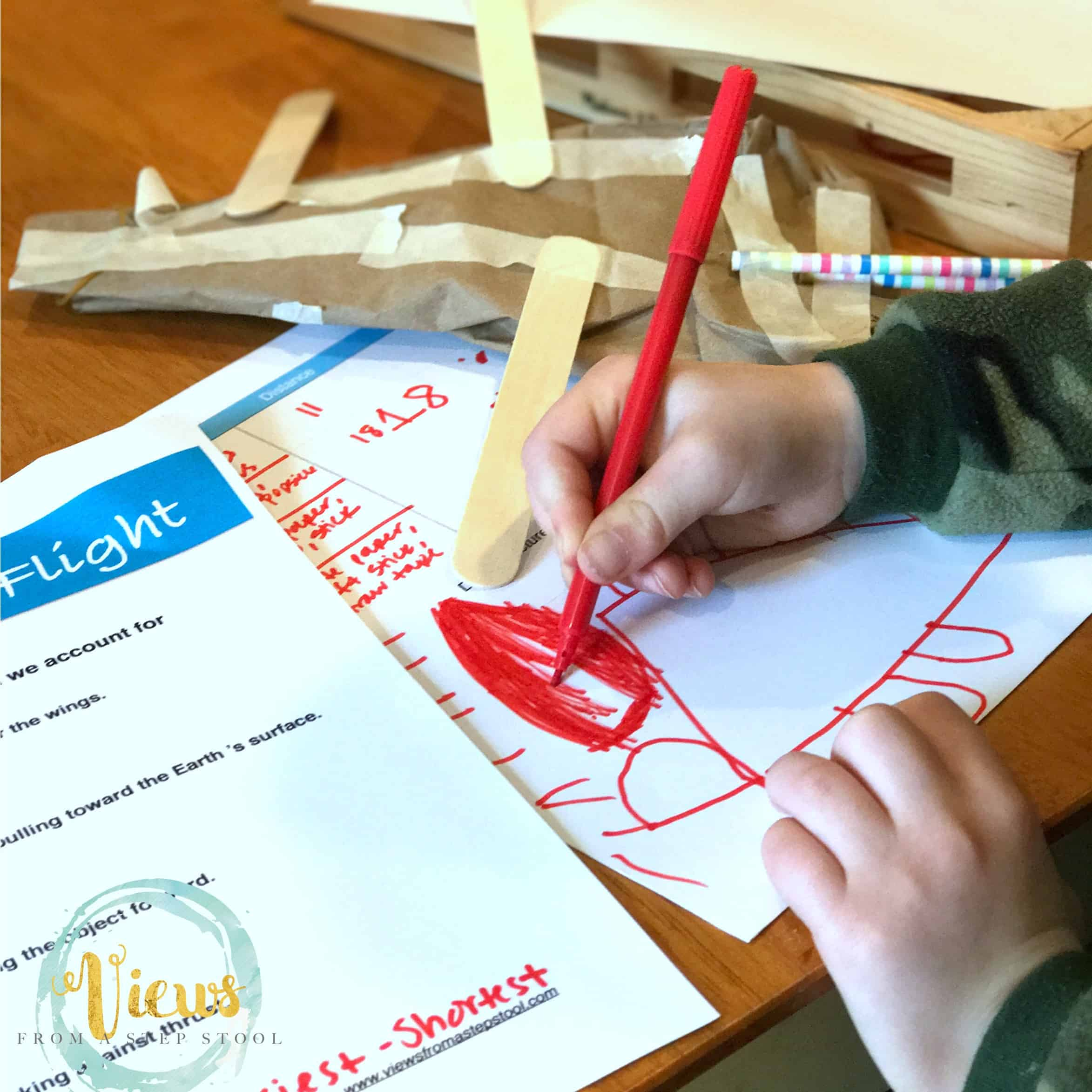 This flying machine STEM challenge is such a fun way for kids to learn about the principles of flight, plus a free printable worksheet!