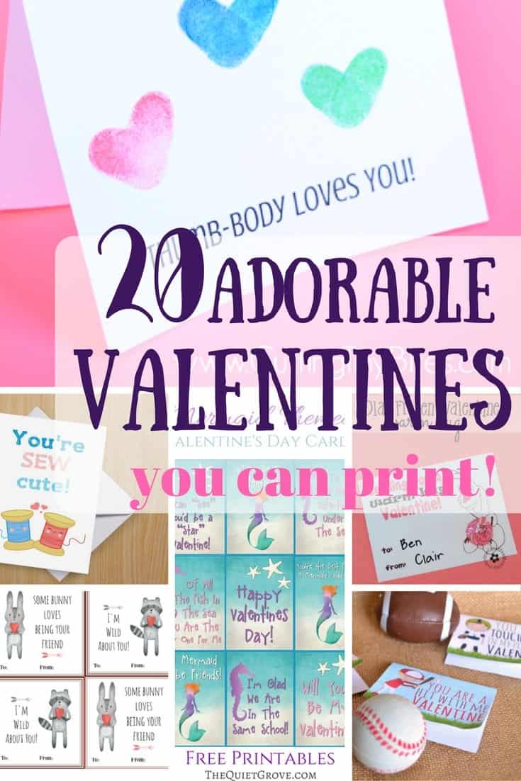 20 printable valentines day cards