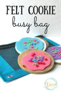 felt cookie busy bag