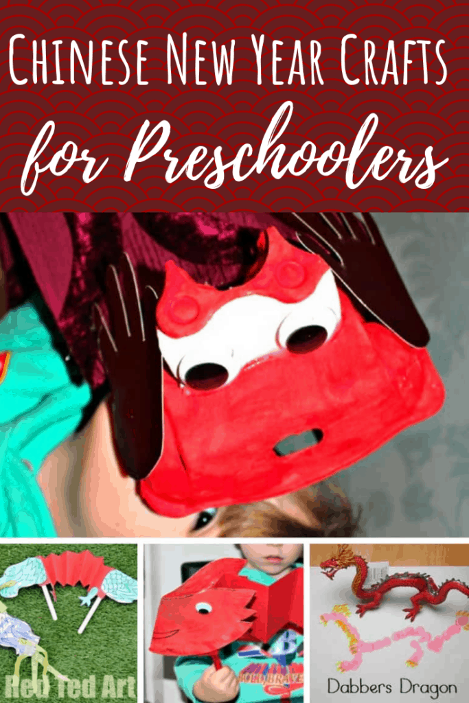 winter crafts for preschoolers chinese new year pin collage