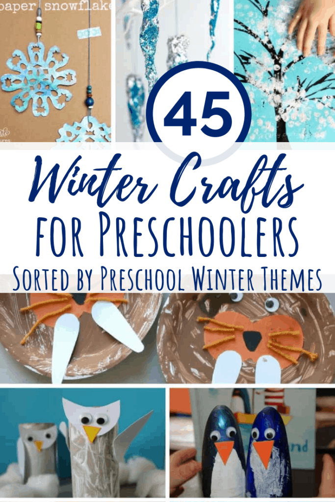 winter crafts for preschoolers main pin collage