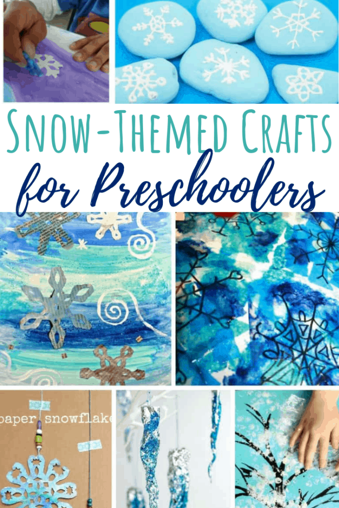 winter crafts for preschoolers snow pin collage