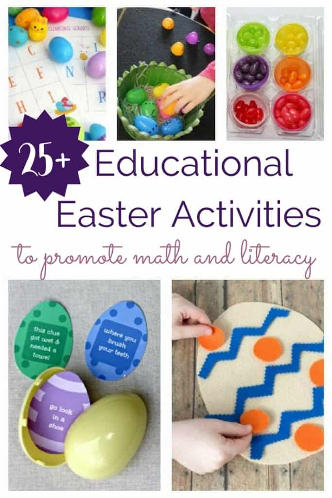 Math and reading can be super fun with these educational Easter activities!
