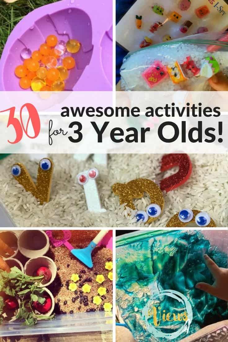30 activities for 3 year olds
