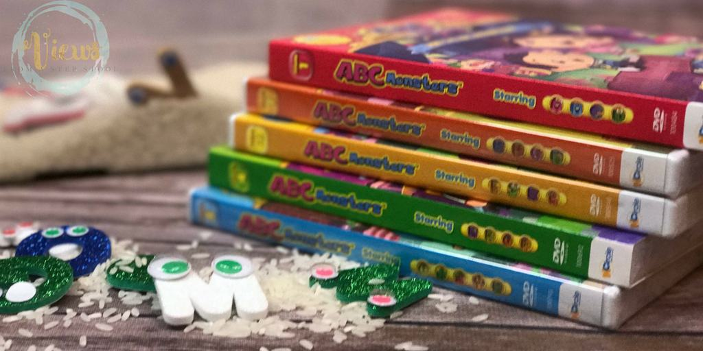 ABC Monsters Sensory Bin Plus DVD Giveaway!