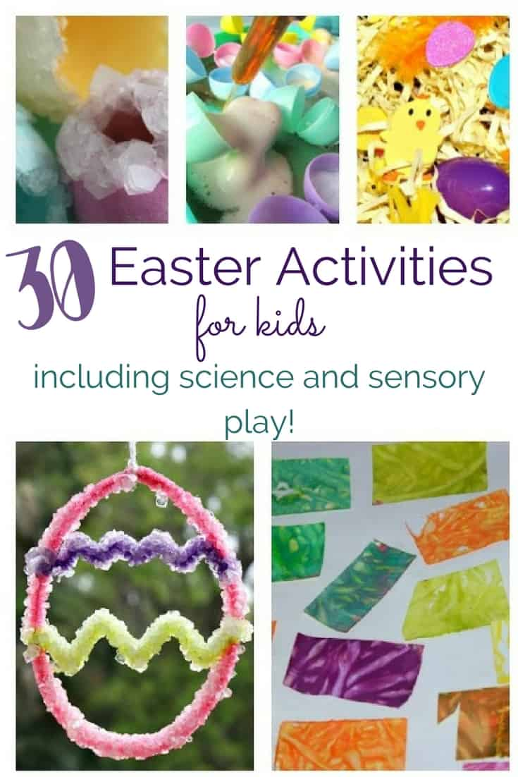 30 Easter Activities for Kids Including Science and Sensory Play