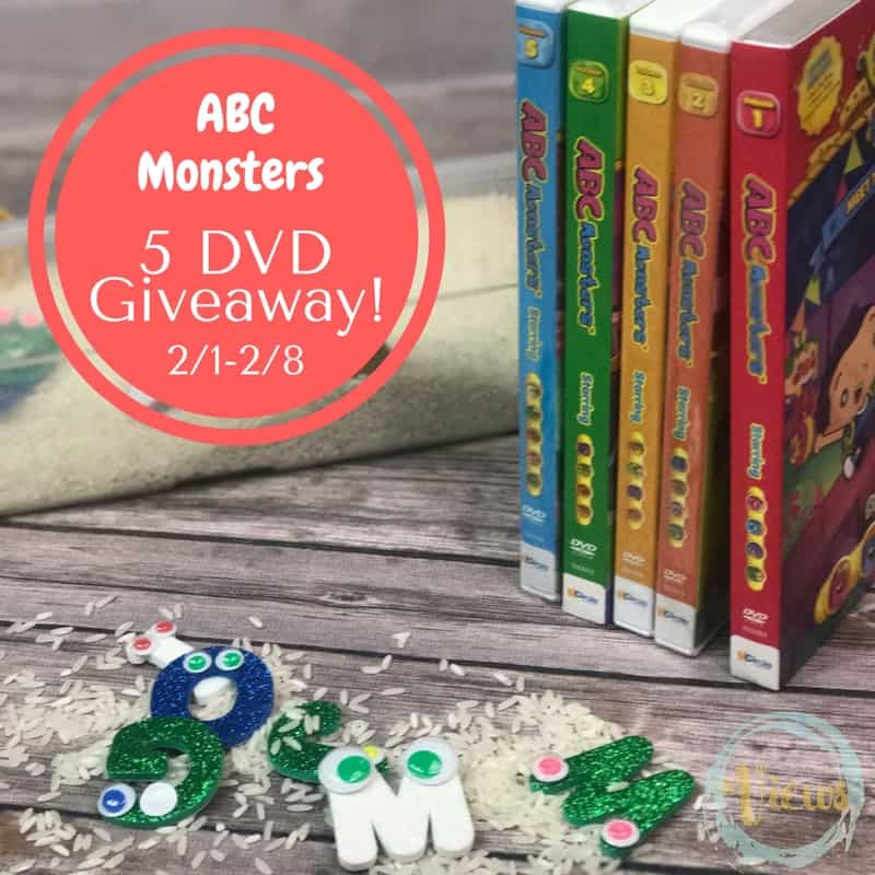 This ABC Monsters sensory bin incorporates some homemade letter monsters and the lovable kids' show, the ABC Monsters! Learn letters through play!