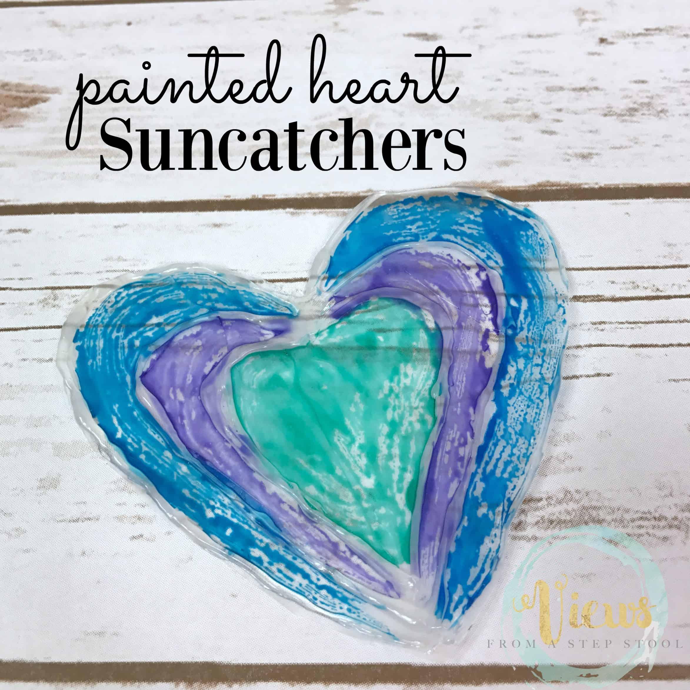 painted heart suncatchers square