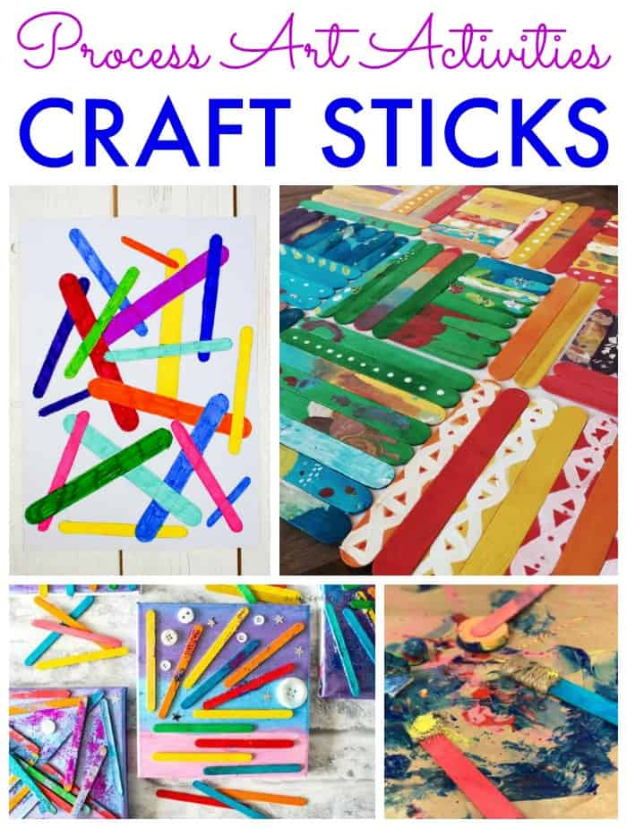 process art activities with craft sticks