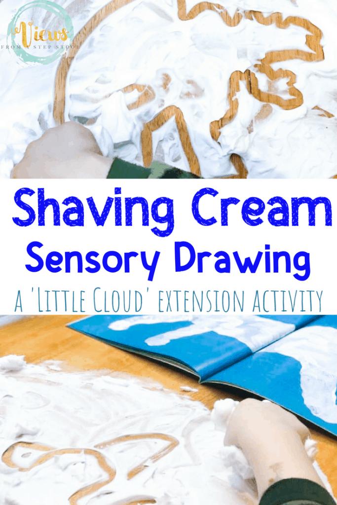 shaving cream sensory bin 2