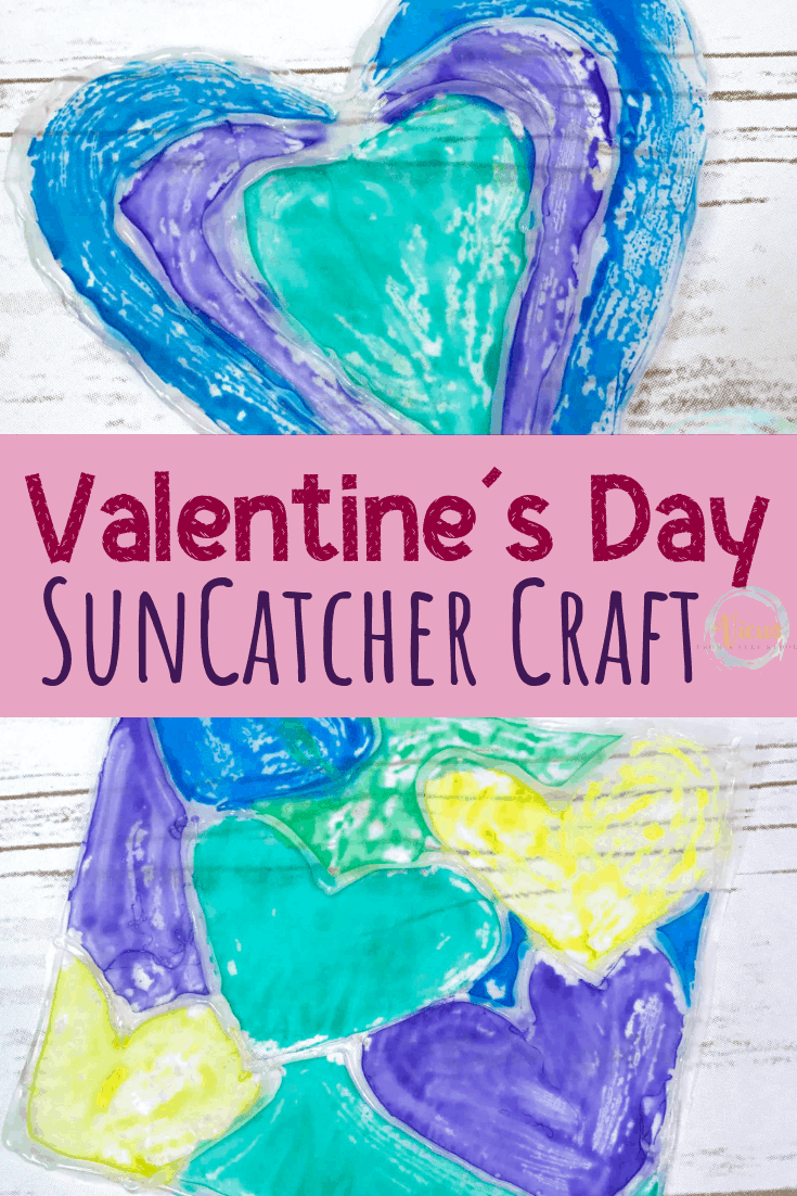 Painted Heart Suncatcher Craft for Kids