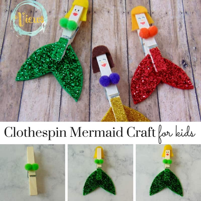 This clothespin mermaid craft is a really fun one for my little princess and mermaid lover!