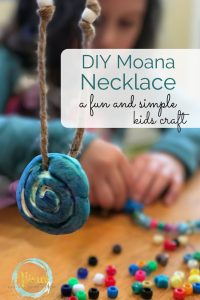 DIY Moana necklace for kids, simple to make, perfect for pretend play
