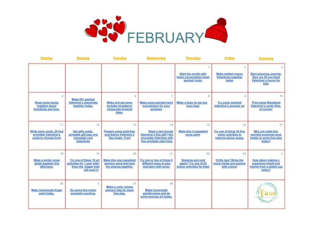 February Calendar of Activities-1