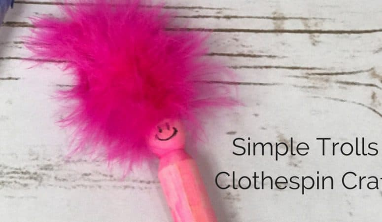 Troll Craft: Simple and Fun Homemade Clothespin Doll
