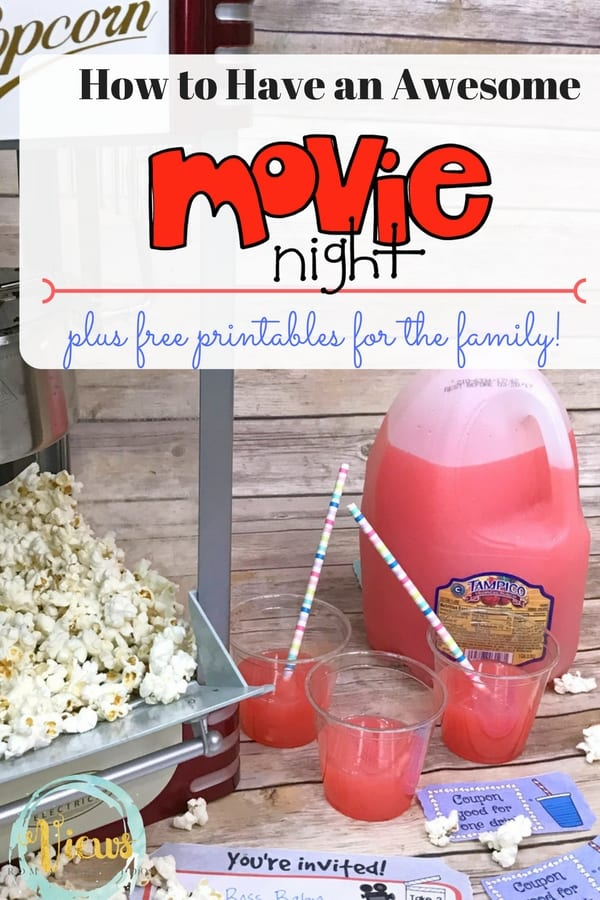 Check out these ways you can make movie night special in your house, and print out the invitation and coupons for everyone!