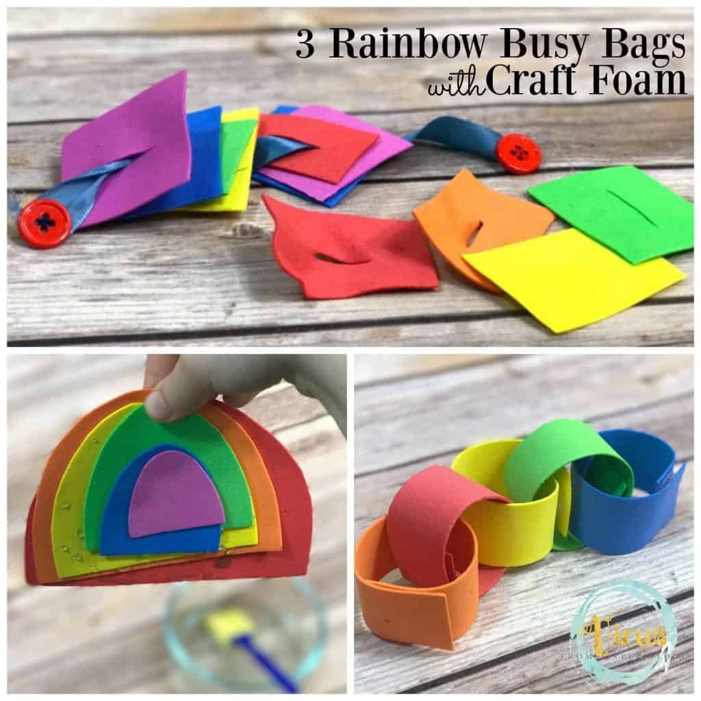 rainbow busy bag square